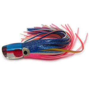 "Marlin Magic Lures - RARE 9"" Jetted Ruckus - Brass Jets Superman Color - Skirted - Pre-Owned-Big Game Lures Hawaii"