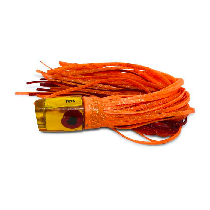 Futa Lures Vintage  Jetted Mac Head- Orange Skirts  - Like New
