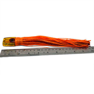 Futa Lures Vintage Jetted Mac Head- Orange Skirts - Like New-Used Lures-Futa Lures-Used-Trolling-lures-Big-Game-Tackle