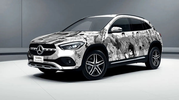 Attack on Titan and Mercedes Benz Collaborate on Car Wrapping