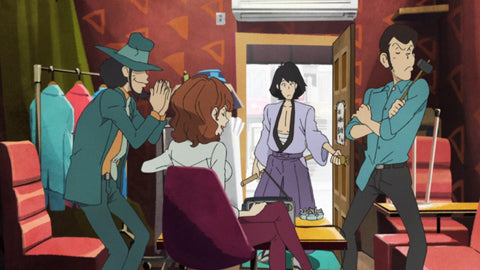 Jigen, Fujiko, Goemon, and Lupin - from LUPIN THE THIRD PART 5