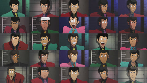 The many faces of Lupin - from LUPIN THE THIRD: GREEN VS. RED