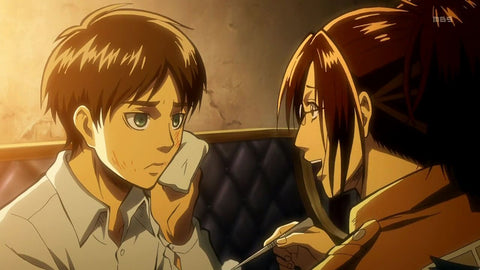 Eren and Hange in a simpler time