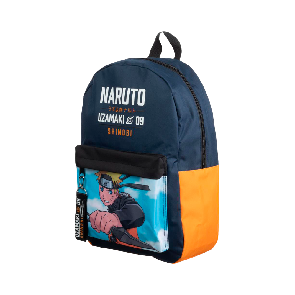 Naruto Uzamaki Orange & Black Backpack
