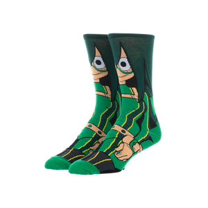 My Hero Academis Green Froppy Crew Socks