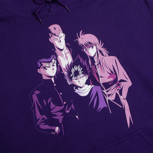 Yu Yu Hakusho Group Purple Hoodie