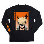 "My Hero Academia Katsuki Bakugo ""Blast Rush Turbo"" Long Sleeve"