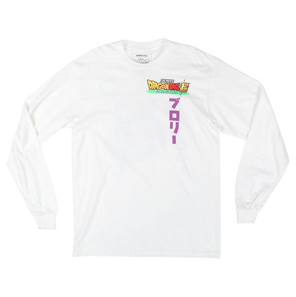 Dragon Ball Super Broly White Longsleeve Tee