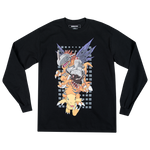 Digimon Greymon Black Longsleeve