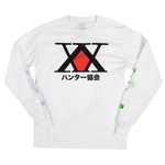 Hunter x Hunter Hunter Association White Long Sleeve Tee