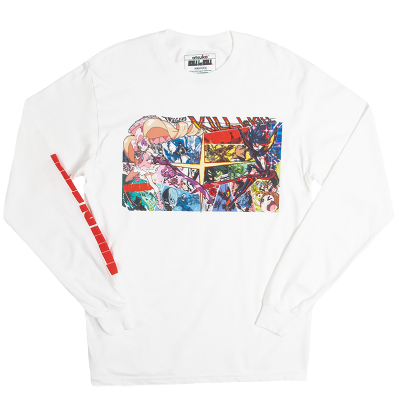 Kill la Kill Comic Panel White Long Sleeve Tee