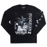 Evangelion Shinji Black Long Sleeve Tee
