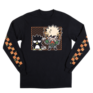 My Hero X Hello Kitty & Friends Black Long Sleeve