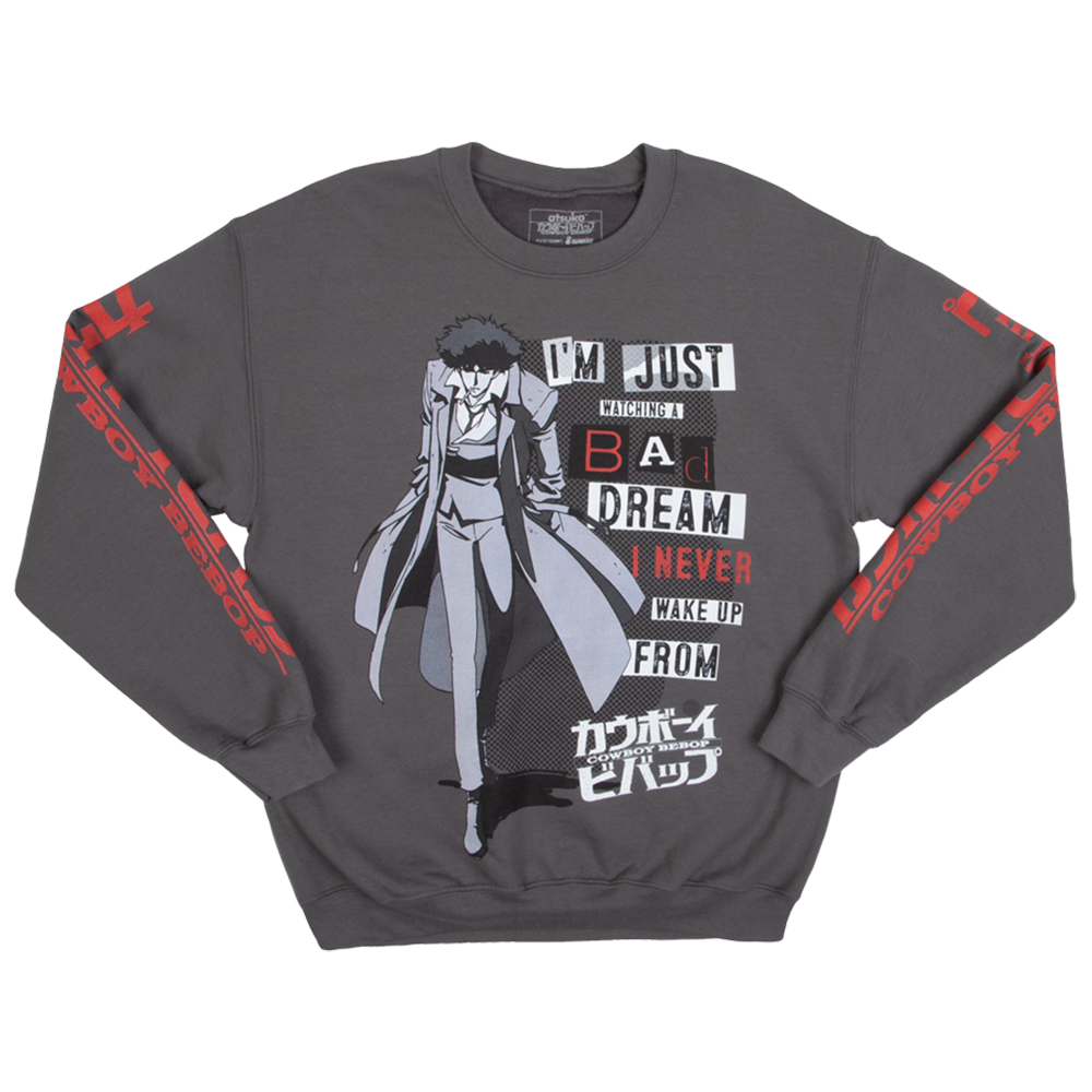 Cowboy Bebop Dream Spike Grey Crew Neck Sweatshirt