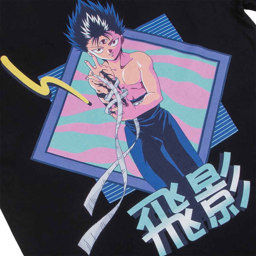 Yu Yu Hakusho Hiei Glam Black Long Sleeve Tee
