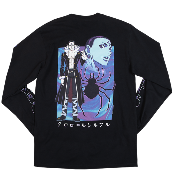 Hunter x Hunter Chrollo Black Long Sleeve Tee