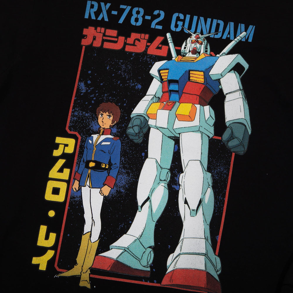 Gundam Mobile Suit Amuro RX Black Long Sleeve