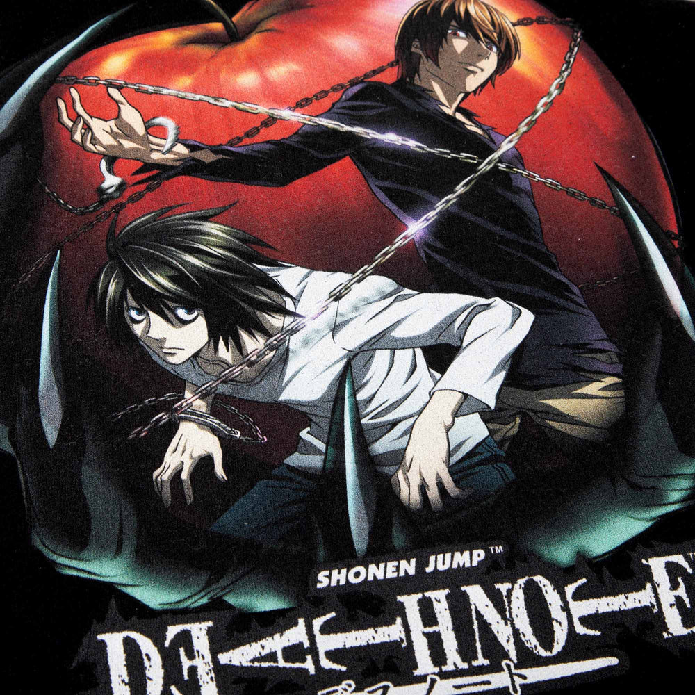 Death Note Light & L Black Long Sleeve