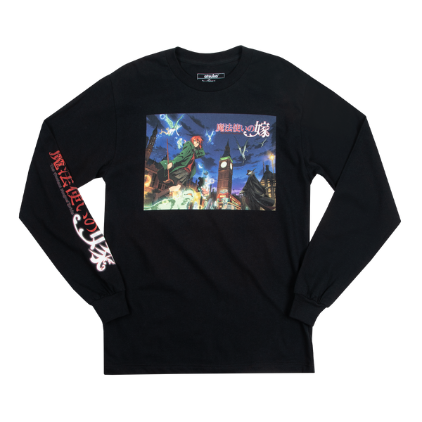 The Ancient Magus' Bride Key Art Black Long Sleeve