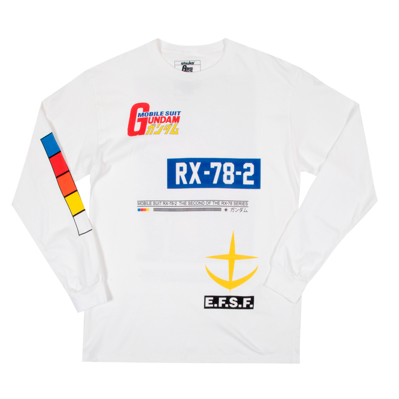 Mobile Suit Gundam Rising White Long Sleeve