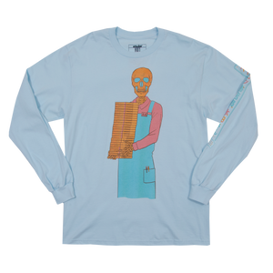 Skulled Faced Book Seller Chambray Long Sleeve
