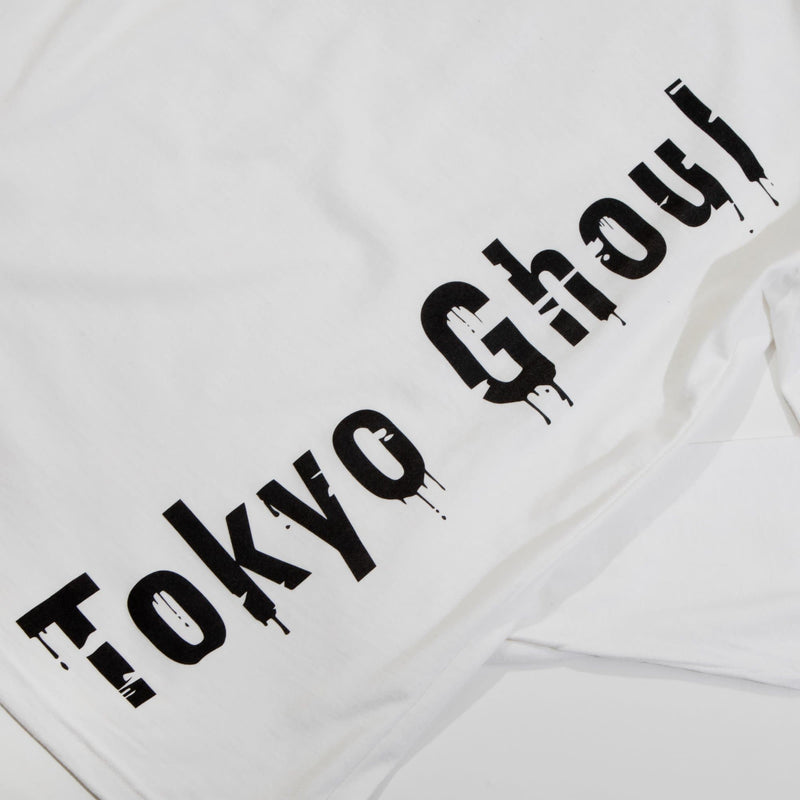 Tokyo Ghoul Ken One Eyed Ghoul White Long Sleeve