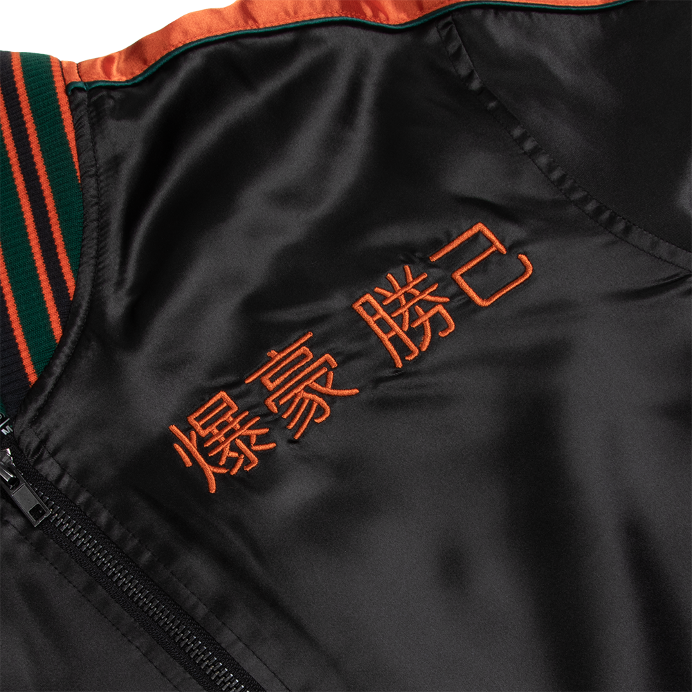 My Hero Academia Bakugo Satin Bomber Jacket