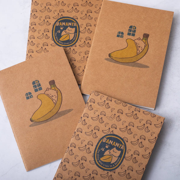 Bananya Set of 4 Pocket Journals