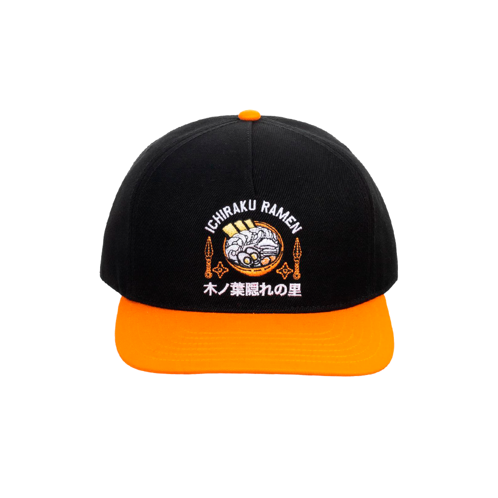 Naruto Orange & Black Slouch Snapback