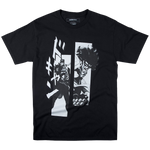 JoJo's Bizarre Adventure Jotaro and Star Platinum Black Tee