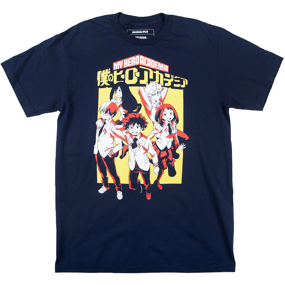 My Hero Academia Group Navy Tee