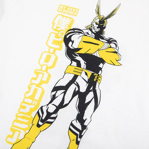My Hero Academia One For All White Tee