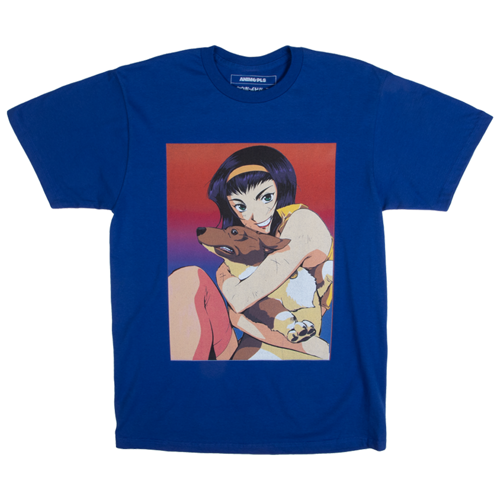 Cowboy Bebop Faye and Ein Blue Tee