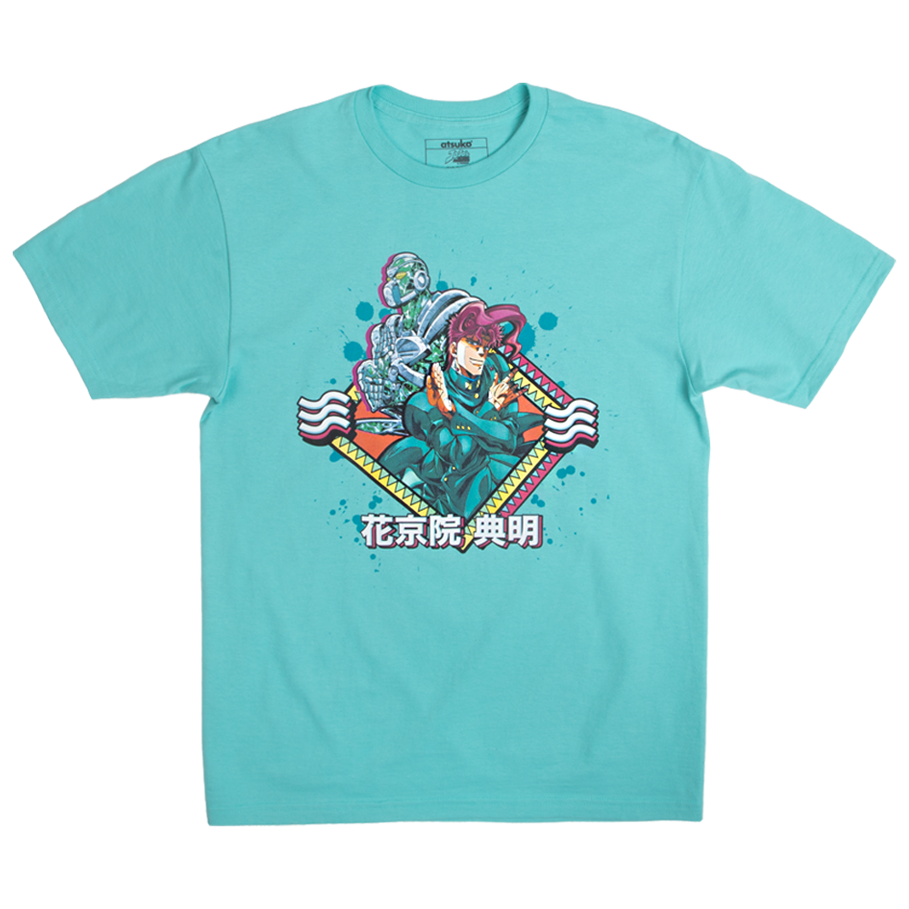 JoJo's Bizarre Adventure Emerald Splash Blue Tee