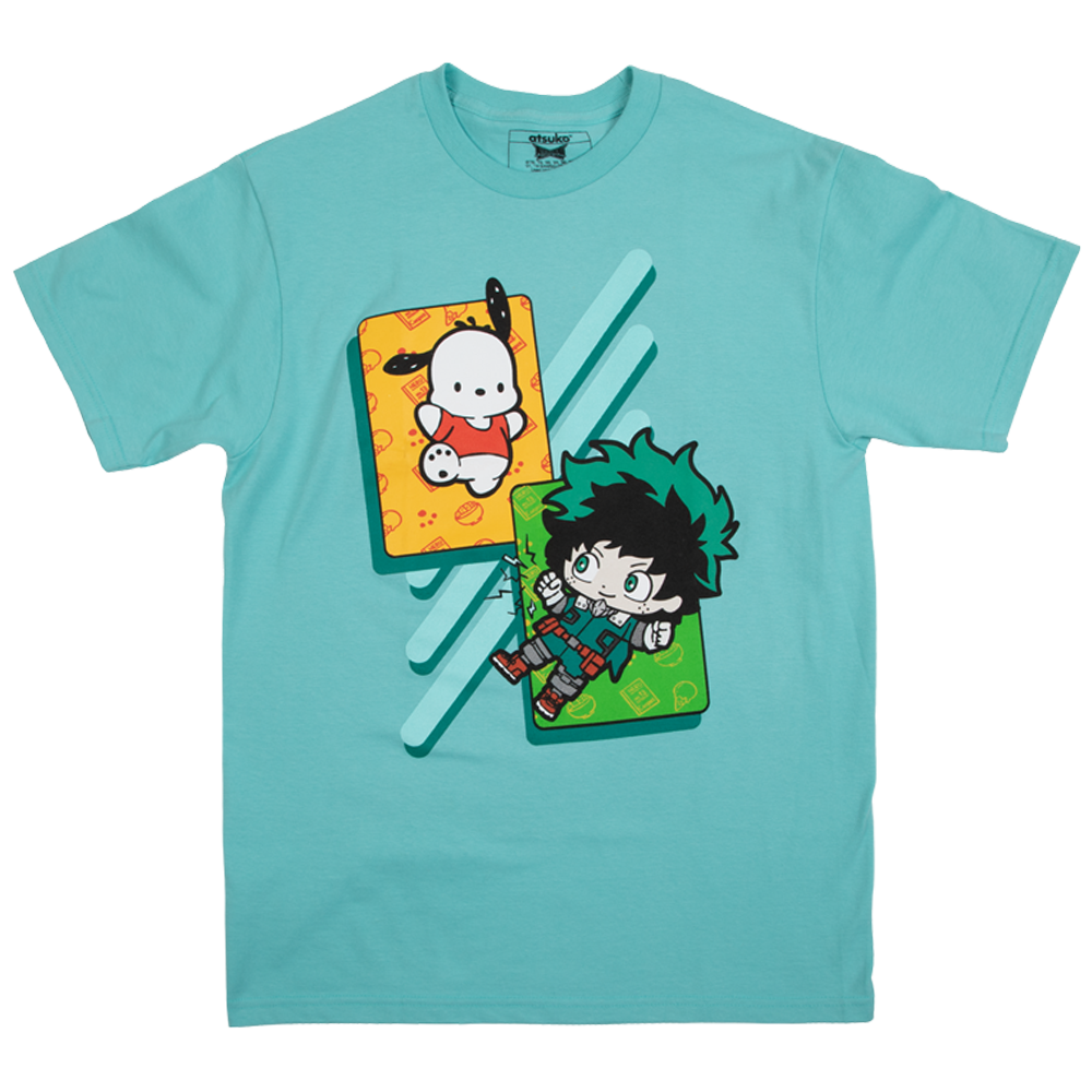 My Hero Academia X Hello Kitty & Friends Pochacco Deku Mint Tee