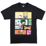 My Hero Academia X Hello Kitty & Friends Comic Black Tee