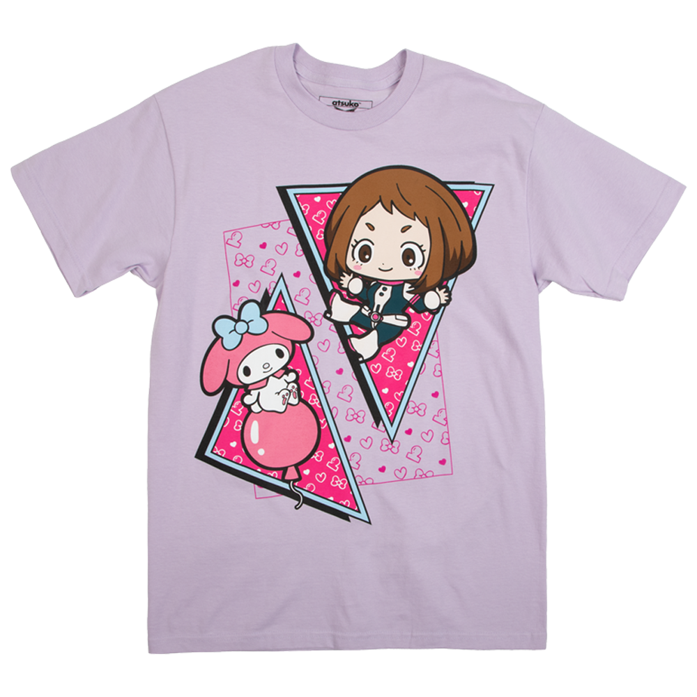 My Hero Academia X Hello Kitty & Friends Uravity My Melo Lavender Tee