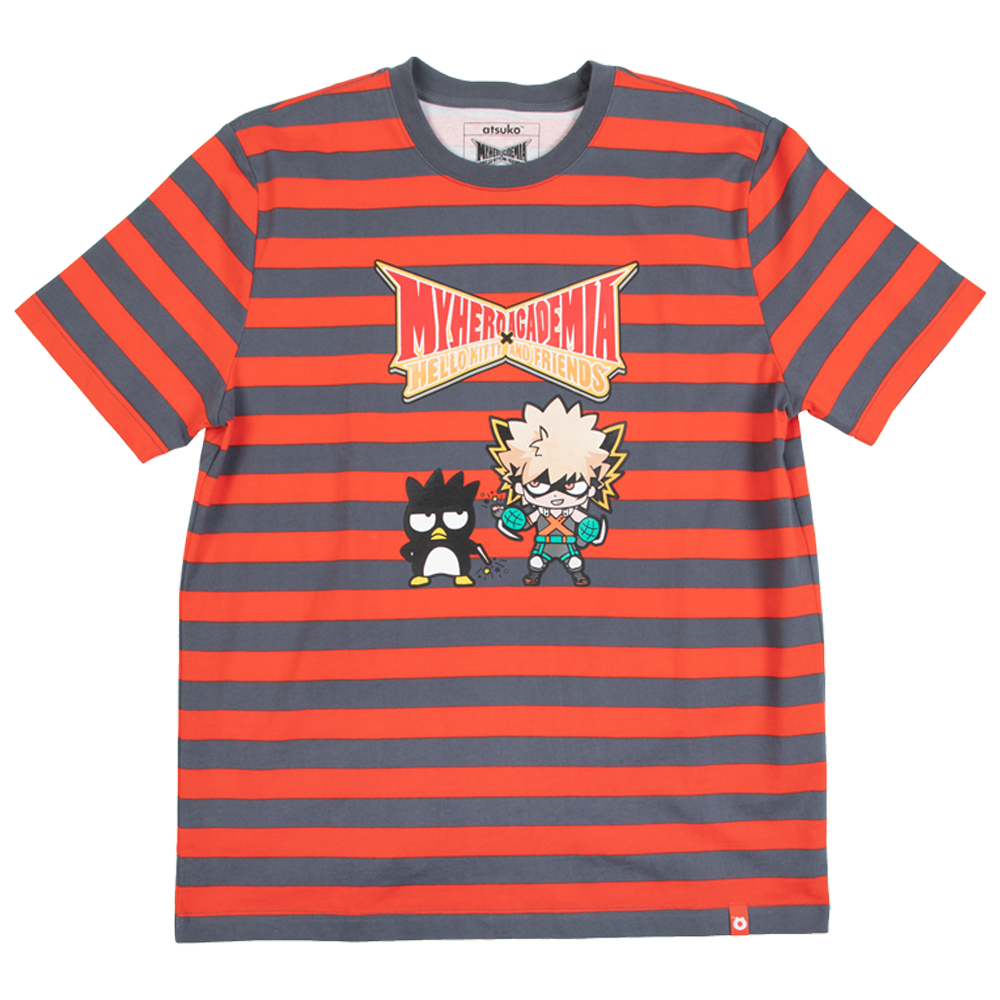 My Hero Academia X Hello Kitty & Friends Bakugou Stripe Tee