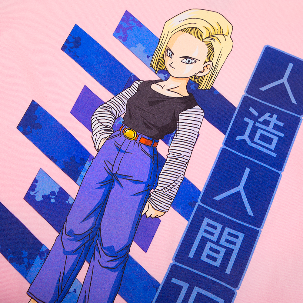 Dragon Ball Z Android 18 Pink Tee