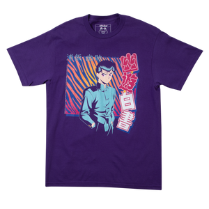 Yu Yu Hakusho Tiger Stripe Purple Tee