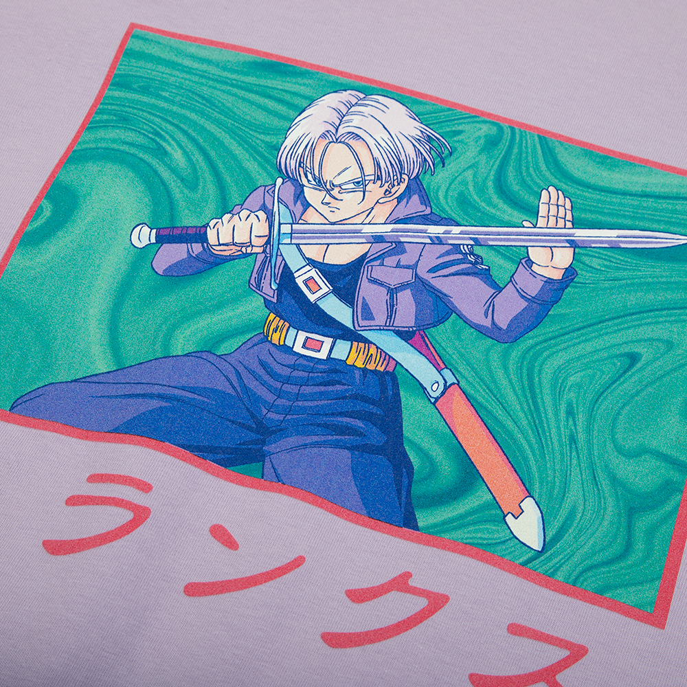 Dragon Ball Z Trunks Lavender Tee