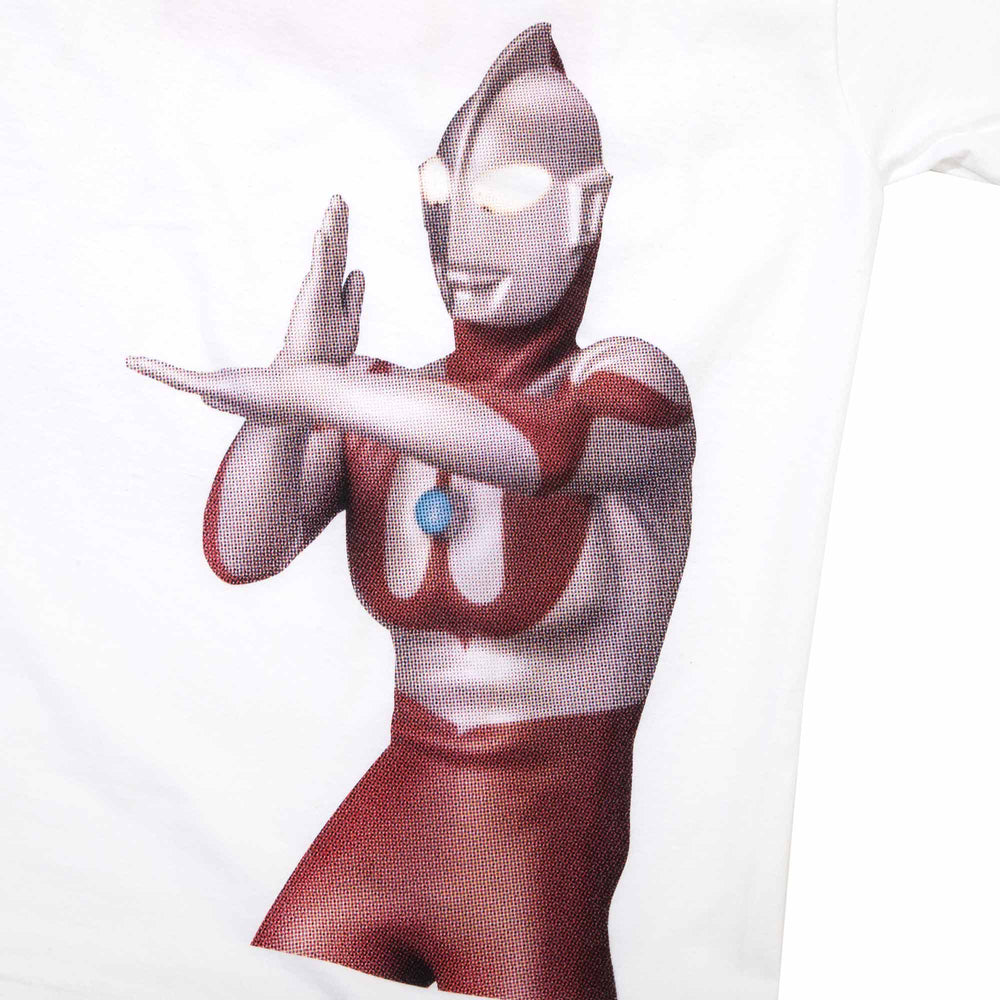 Ultraman Beam Back Hit White Tee