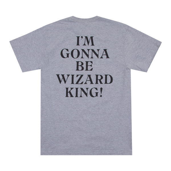 Black Clover Wizard King Heather Grey Tee