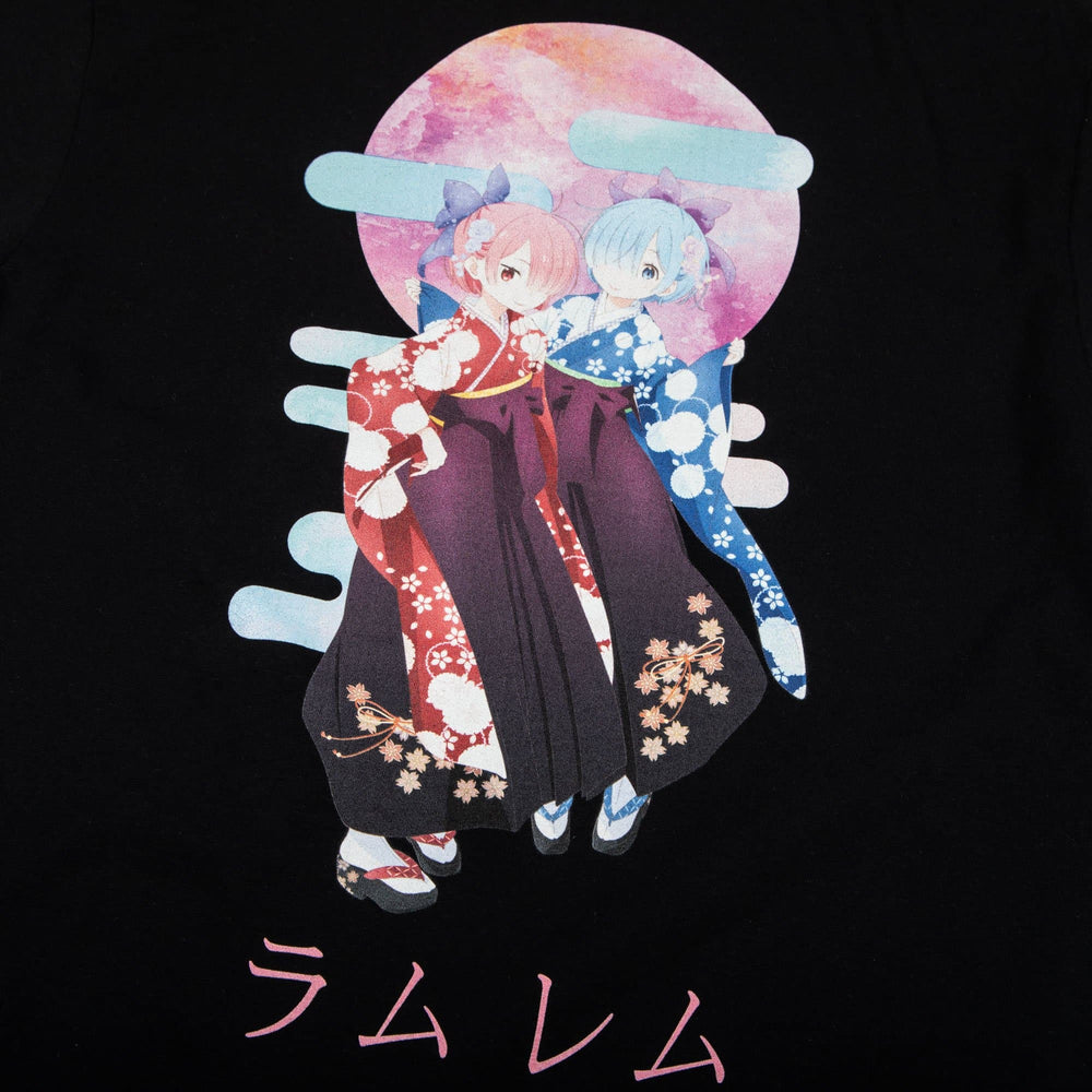 Re:Zero Demon Twins Black Tee
