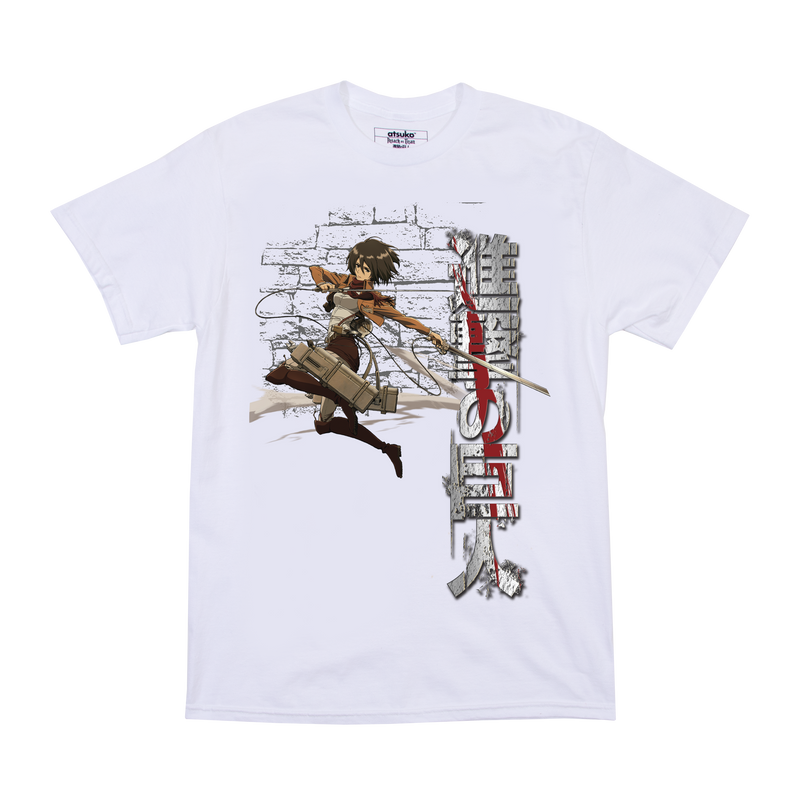Attack on Titan Mikasa White Tee