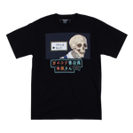Skull Faced Book Seller Choices Black Tee