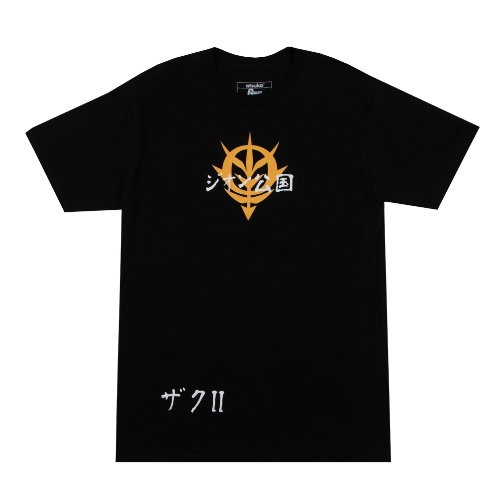 Gundam Mobile Suit Zaku II Black Tee