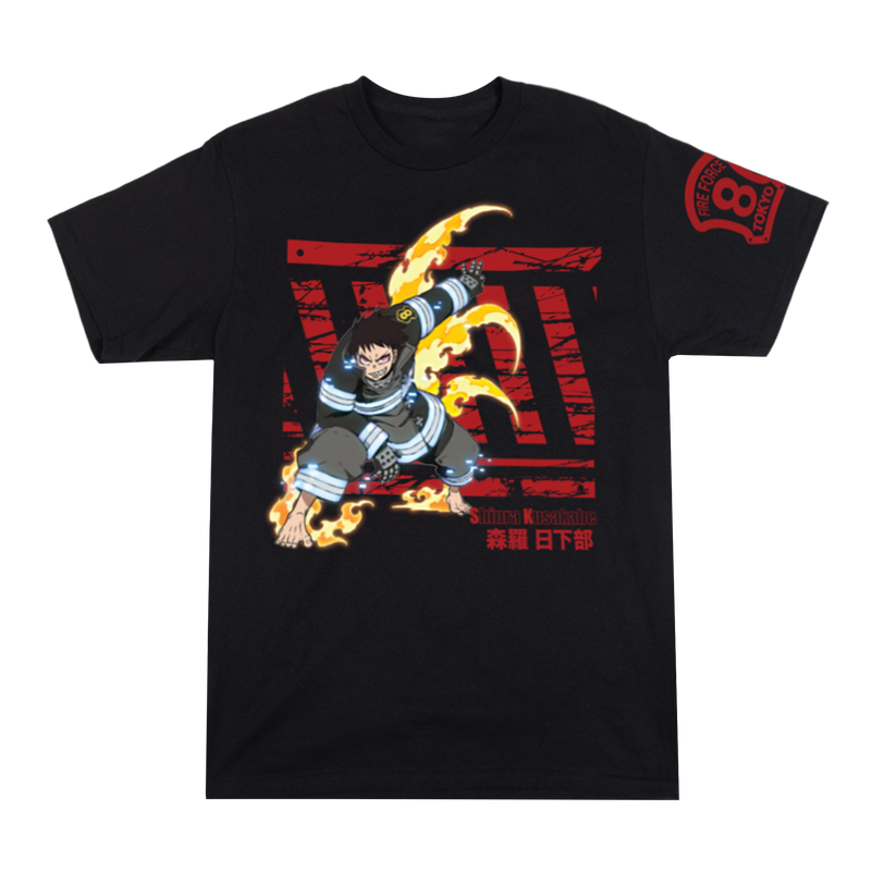 Fire Force Shinra Kusakabe Black Tee