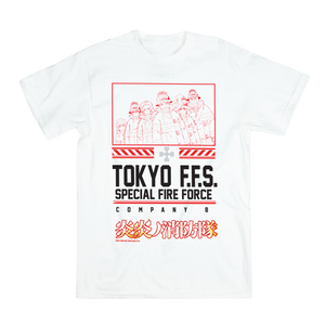 Fire Force Group White Tee