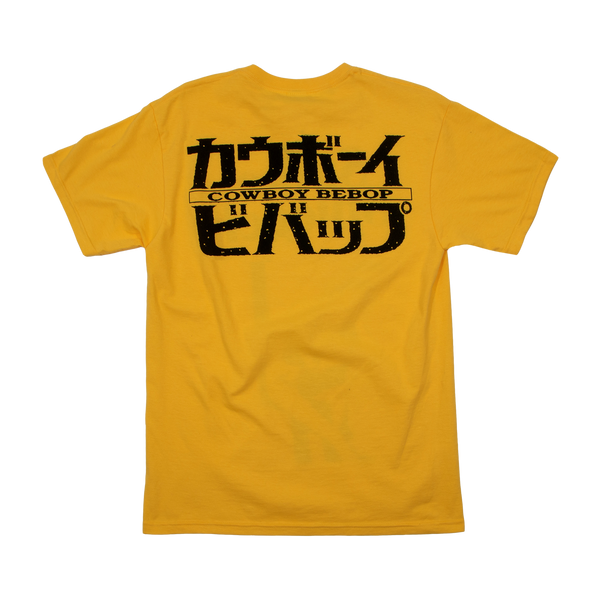 Cowboy Bebop Spike Art Deco Gold Tee